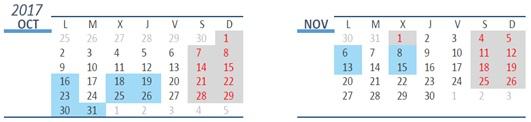 Calendario A1