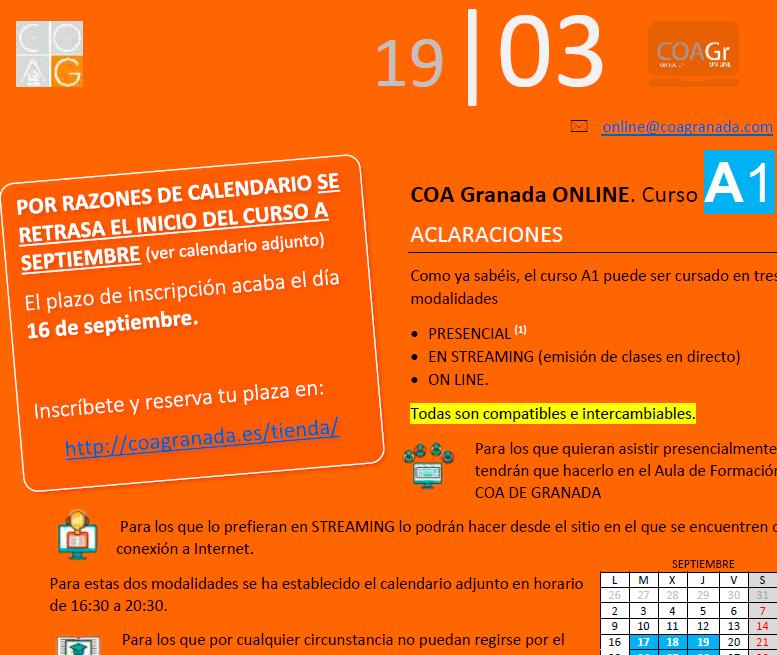 Calendario Ugr 2020.Bim Coa Granada